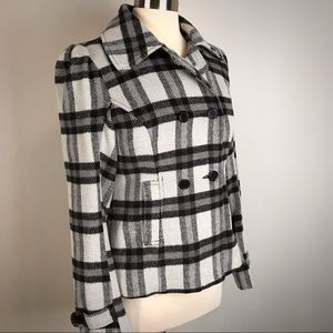 Sound & Matter Jackets & Coats - Sound & Matter black and light gray plaid jacket
